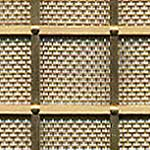 Georgian 25mm Square Grille - Natural Brass, All Rivets, Fine Mesh