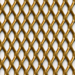expanded steel grille - gold
