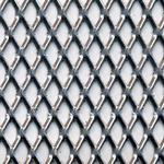 expanded steel grille - silver