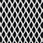 expanded steel grille - white
