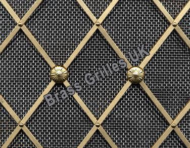 Regency brass grille decorative metal by brass grilles uk - Decorative metal grilles for cabinets ...