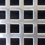 Square Hole Polished Stainless Steel Grille