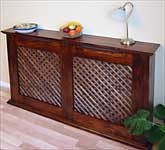 Mahogany Stained with wooden lattice